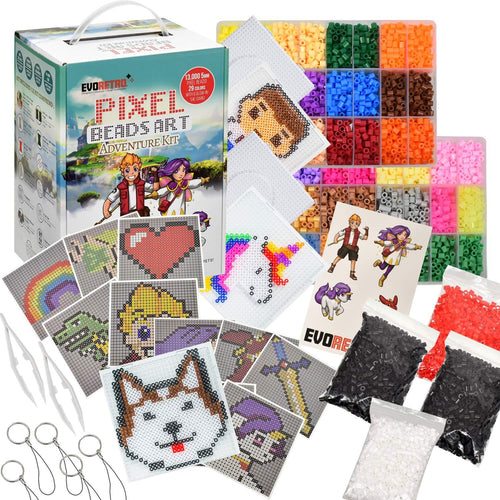 PIXEL 2 ART BEAD ADVENTURE KIT 13000 beads in 29 bright and vivid colors