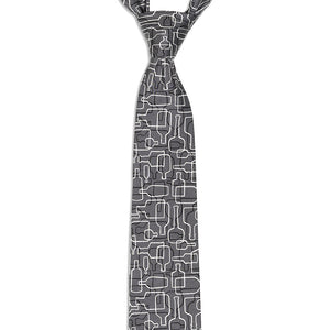 Bourbon Days© Necktie | Gray + Black