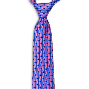 Bourbon Row© Necktie | Navy + Pink