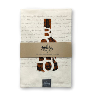 """Bourbon in a Bottle"" Bar/Kitchen Towel 
