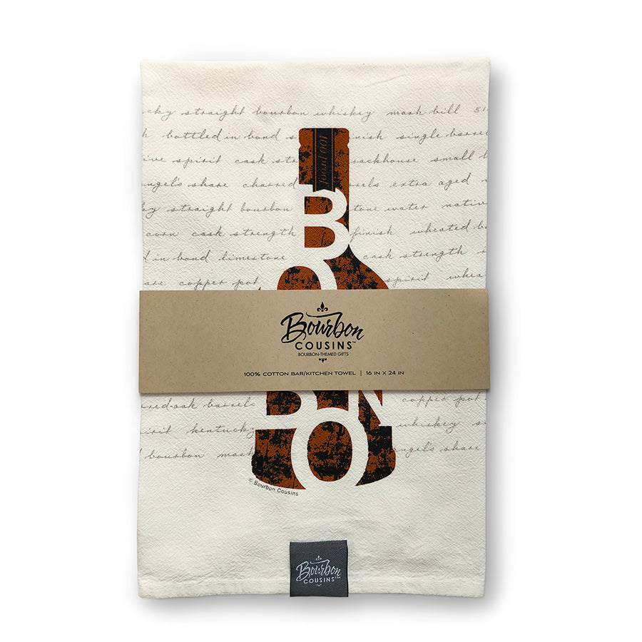 """Bourbon in a Bottle"" Bar/Kitchen Towel"