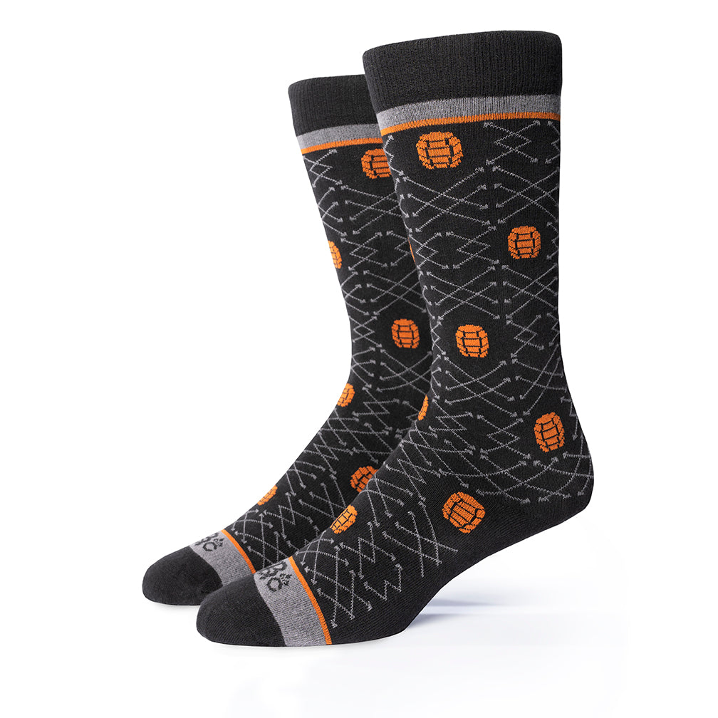 Barrel Pick© Socks | Black + Gray + Copper