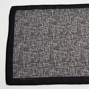 Bourbon Days©  Scarf | Charcoal Gray + Black + Pale Gray