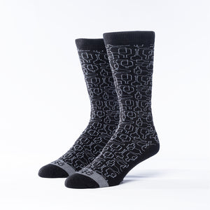 Bourbon Days© Socks | Black + Gray