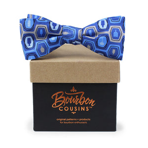 Bourbon Fest© Bow Tie | Royal  Blue + Gray on gift box