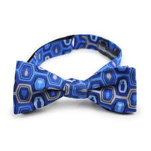 Bourbon Fest© Bow Tie | Royal  Blue + Gray tied bow tie