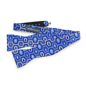 Bourbon Fest© Bow Tie | Royal  Blue + Gray self-tie bow tie