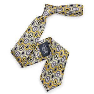 Bourbon Fest© Necktie | Gold + Gray