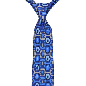 Bourbon Fest© Necktie | Royal Blue + Gray