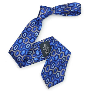 Bourbon Fest© Necktie | Royal Blue + Gray on gift box