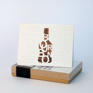 """Bourbon in a Bottle"" Note Cards 