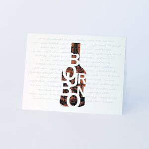 """Bourbon in a Bottle"" Note Cards"