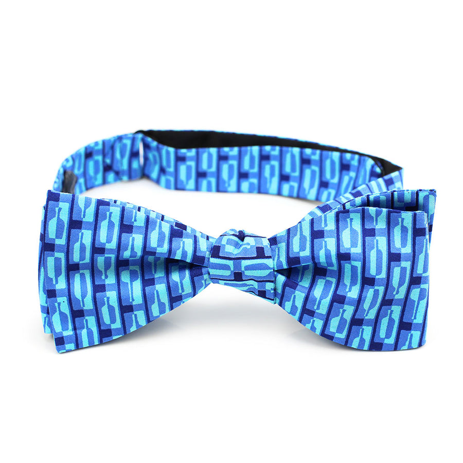 Bourbon Row© Bow Tie | Navy + Arctic Blue on gift box