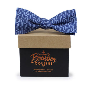 Bourbon Row© Bow Tie | Navy + Chambray Blue on gift box