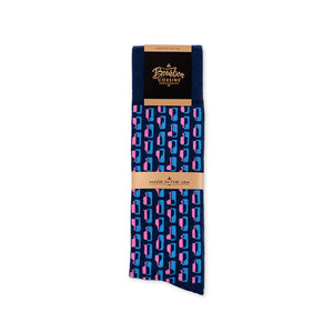 Bourbon Row© Socks |  Navy + Pink