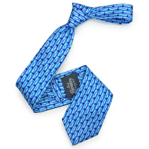 Bourbon Row© Necktie | Navy + Arctic Blue on gift box