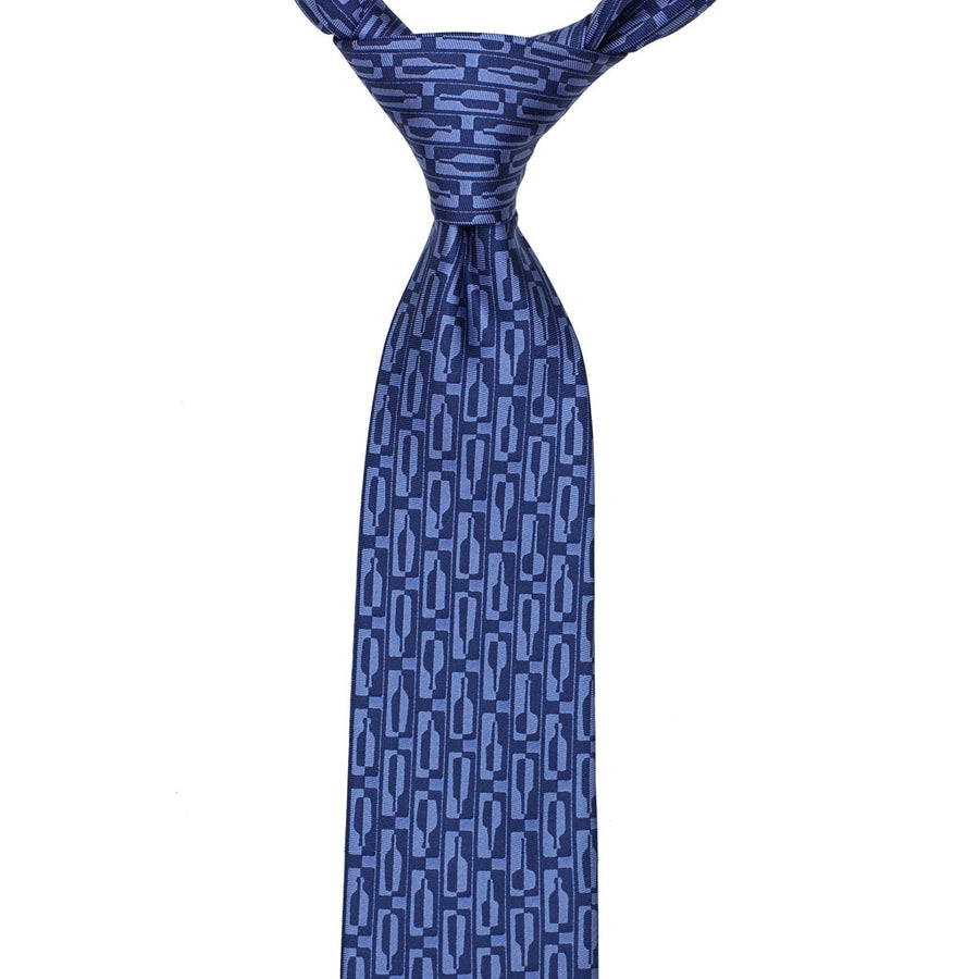 Bourbon Row© Necktie | Navy + Chambray Blue on gift box