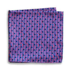 Bourbon Row© Pocket Square | Navy + Pink