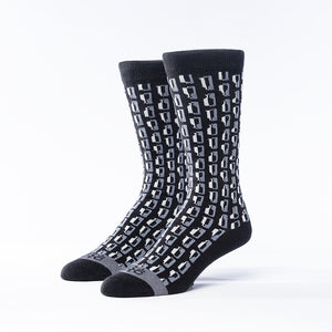 Bourbon Row© Socks | Black + Gray