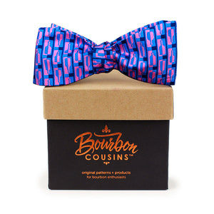 Bourbon Row© Bow Tie | Navy + Pink