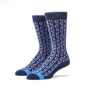 Bourbon Row© Socks | 3 Pack | Navy + Pink