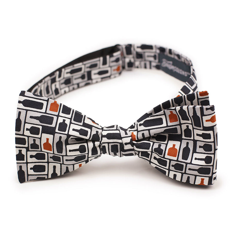 Retro Bourbon© Bow Tie | Black + Copper on gift box