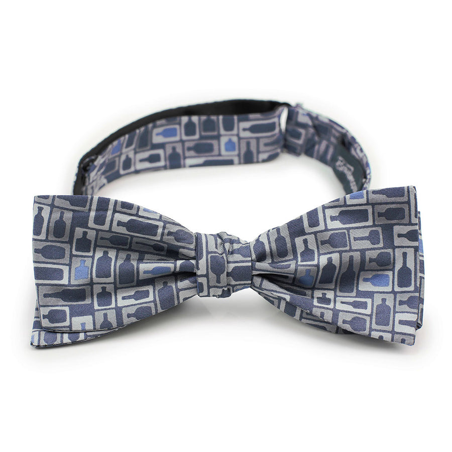 Retro Bourbon© Bow Tie | Navy + Gray on gift box