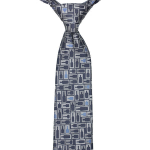 Retro Bourbon© Necktie | Navy + Gray