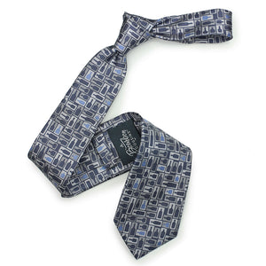 Retro Bourbon© Necktie | Navy + Gray on gift box