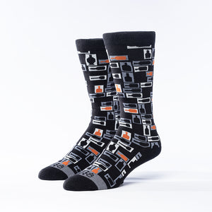 Retro Bourbon Tie + Sock Gift Set | Black + Copper