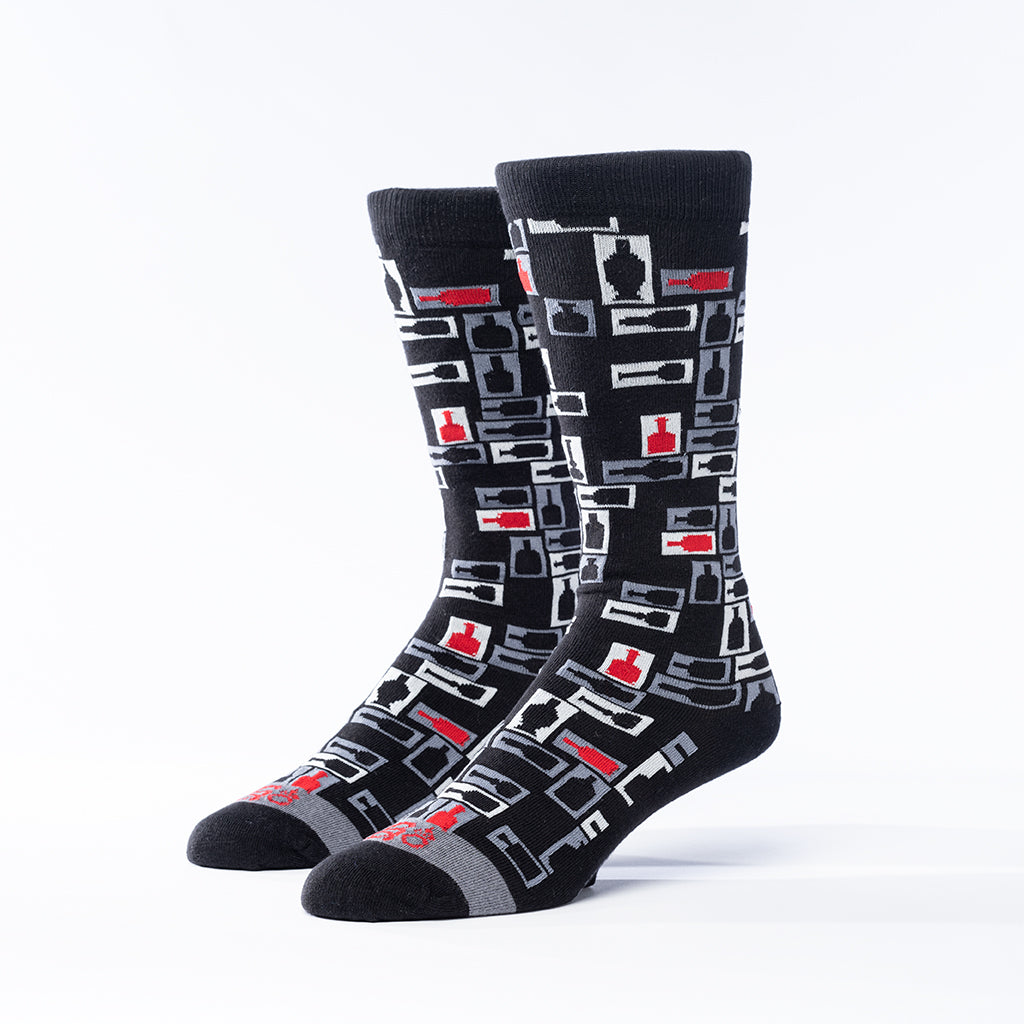 Retro Bourbon© Socks | 3-pack | Black + red