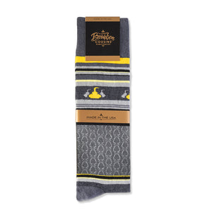 Whisky Tasting Socks | Gray + Gold + Black