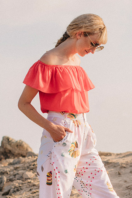 Ana Frilled Top - Soler London - Alex Al-Bader