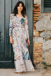 Capri Tiered Henley Maxi Dress