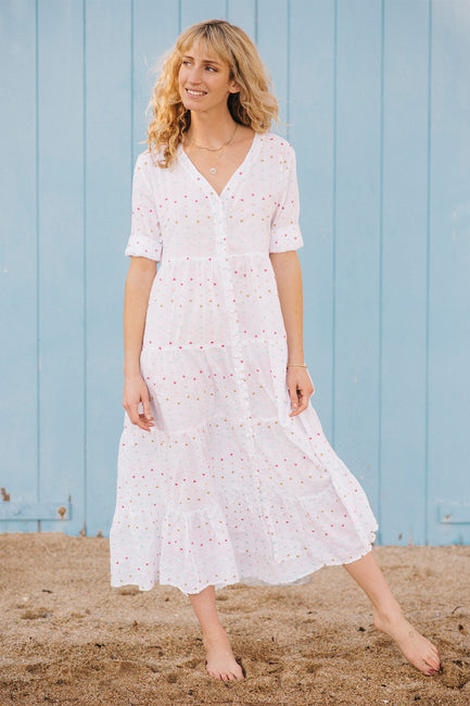 Capri Tiered Henley Dress