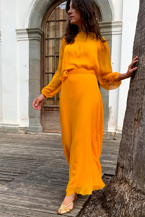 Greta Balloon Sleeve Maxi Dress - Soler London - Alex Al-Bader