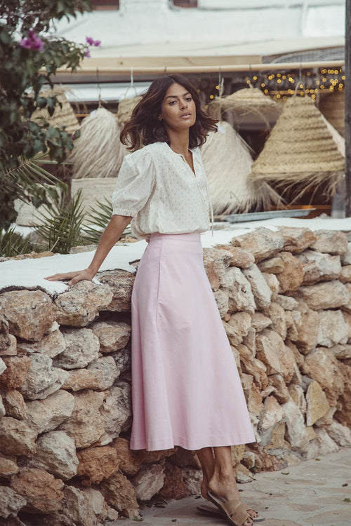 Gabrielle Bias Midi Skirt  - Soler London - Alex Al-Bader