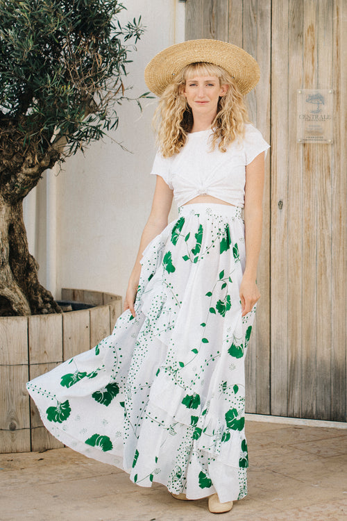 Lola Asymmetric Ruffle Maxi Skirt - Soler London - Alex Al-Bader
