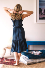 Malta Bow-Tie Midi Dress