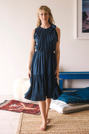 Malta Bow-Tie Midi Dress - Soler London - Alex Al-Bader