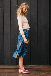 Malta Frilled Midi Skirt - Soler London - Alex Al-Bader