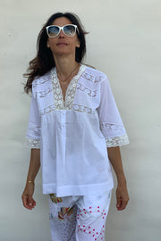 Marina Lace Yoke Top - Soler London - Alex Al-Bader