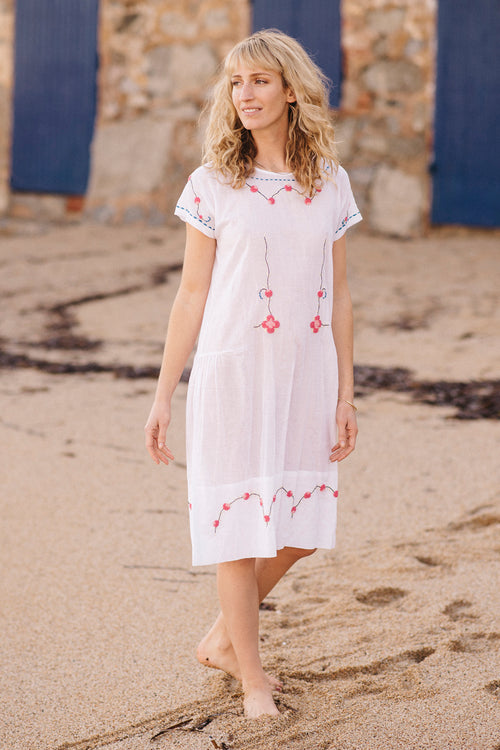 Menorca Hand Embroidered Dress - Soler London - Alex Al-Bader