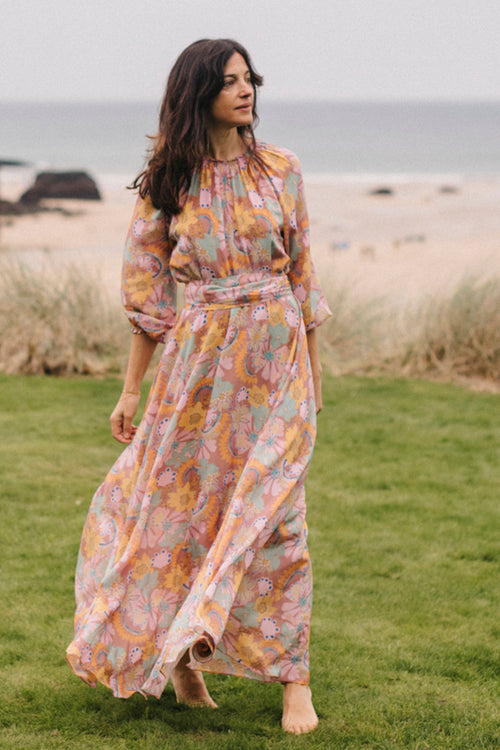 Raquel Bea Peasant Maxi Dress - Soler London - Alex Al-Bader