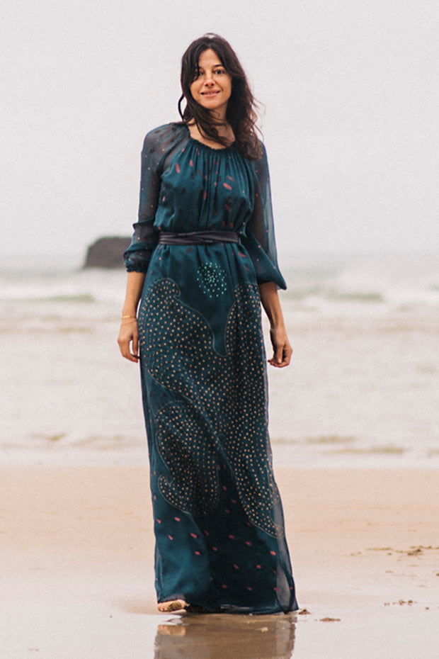Raquel Bea Peasant Maxi Dress