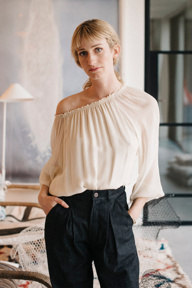 Raquel Peasant Top - Soler London - Alex Al-Bader