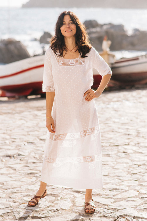 Romantic II Square Neck Midi Kaftan