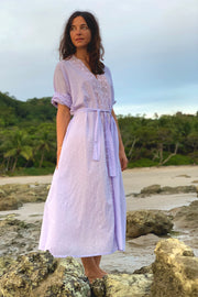 Romantic V Lace Trim Kaftan