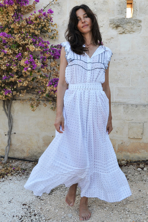 Antonella Square Yoke Maxi Dress - Soler London - Alex Al-Bader