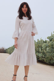 Pia Gathered Tier Midi Dress - Soler London - Alex Al-Bader